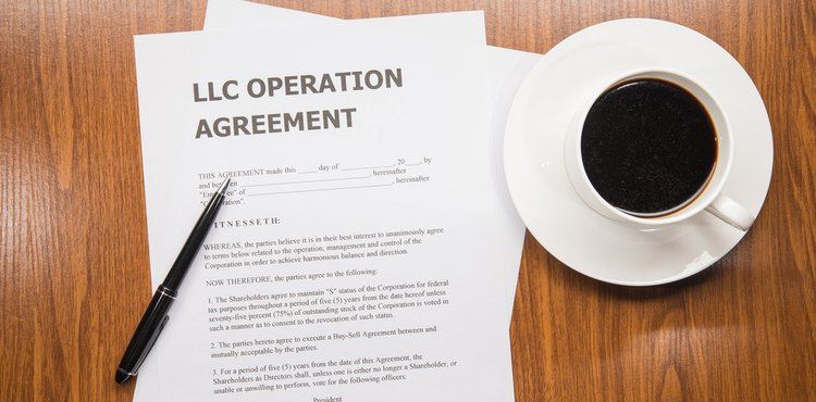 An LLC operation agreement and a cup of coffee.